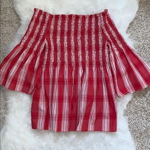 NEW W/O Tags ZARA Off the Shoulder Smocked Top